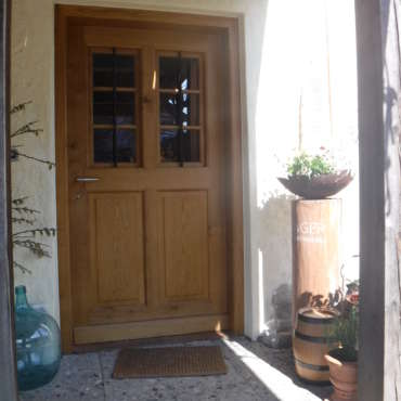 Haustüre in Eiche mit Fensterflügel